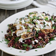 Beetroot, Wild Rice and Herb Salad Recipe with Cumin Spiced Grilled Chicken