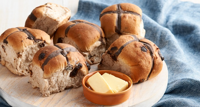 Chocolate Chip Easter Hot Cross Buns