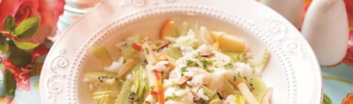 Rice Salad with Kiwi Fruit Recipe